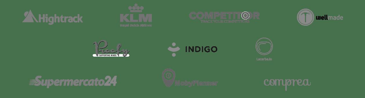 logotipos de algunas de las empresas para las que hemos hecho design sprints