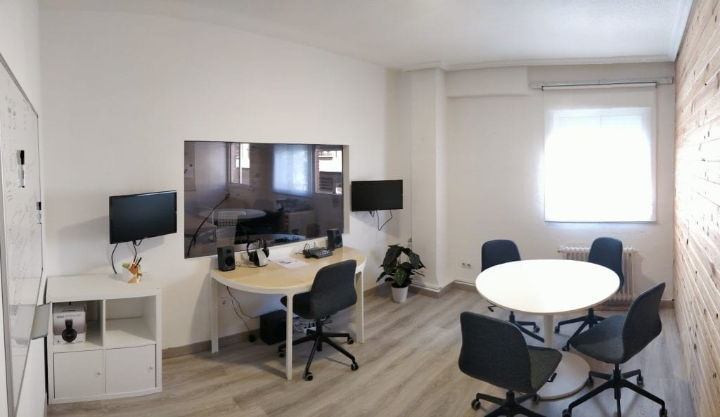 Sala de observación laboratorio usabilidad TeaCup Lab