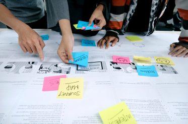 Team working on Customer Journey Map