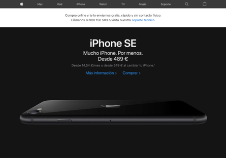 Protocolo de envíos de Apple durane el COVID-19.