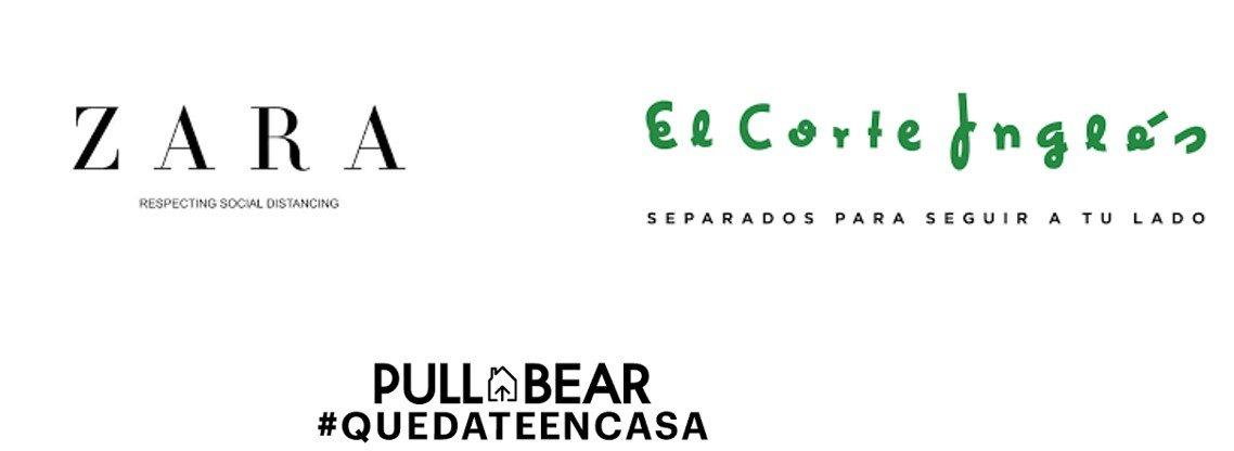 Muchas marcas tomaron la medida de modificar su logo en solidaridad con la situación, prácticamente desde el inicio del confinamiento.